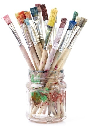 How to Paint Glass - Brushes