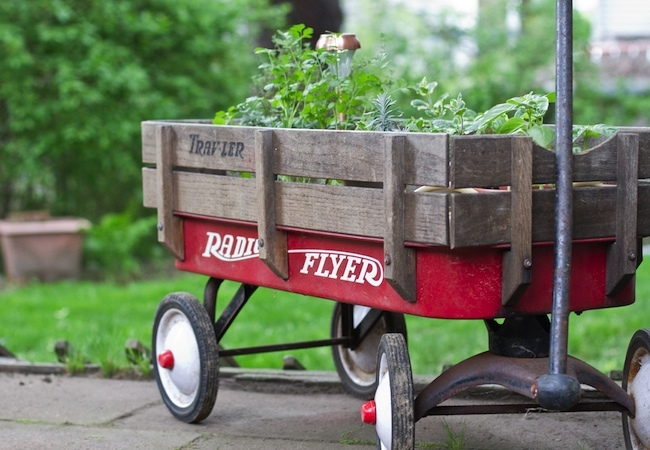 Repurposed Toys - Garden Cart