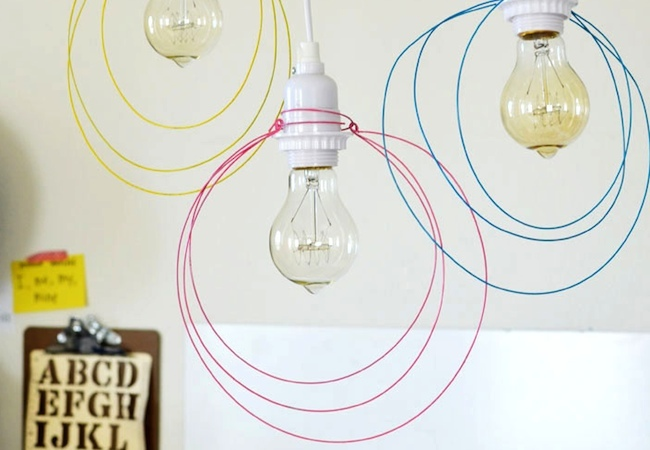 DIY Pendant Light - Wire