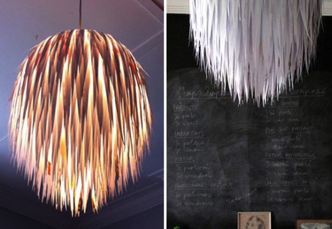 DIY Pendant Light - Paper