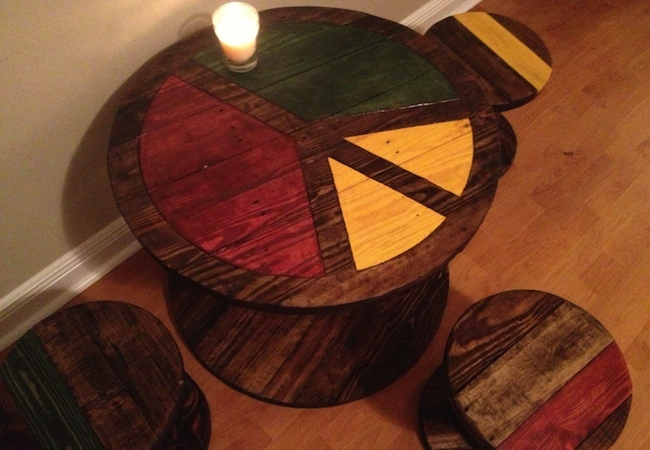 Diy dining table 5 you can make bob vila for Large wooden spools used for tables