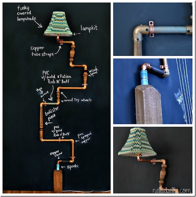 DIY Pipe Lamp Materials