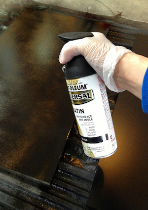 How to Spray Paint Furniture - Detail Spraying