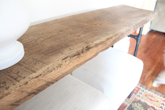 Salvaged Wood Barn Door Table