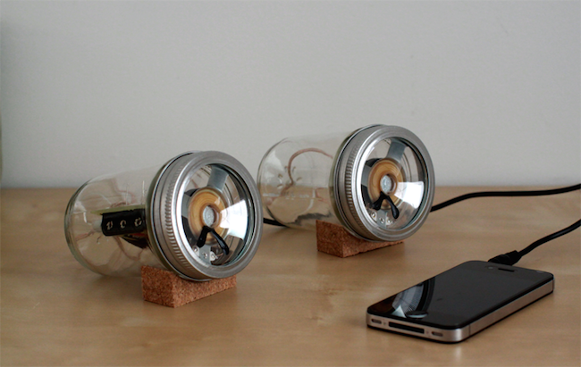 DIY Mason Jar Speaker Set - after