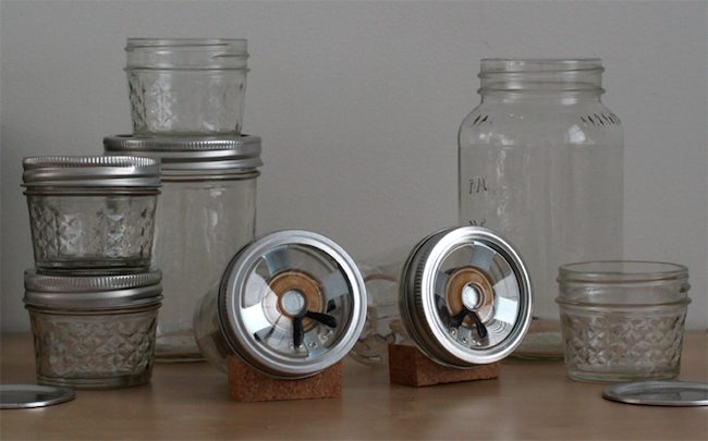 DIY Mason Jar Speaker Set - Glass Vignette