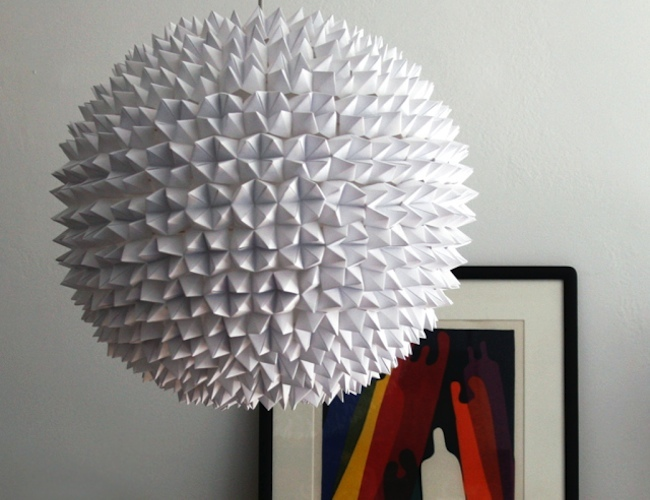 DIY Paper Lantern - Faceted