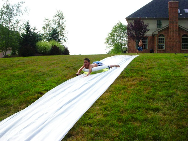 DIY Slip n Slide - Inner Tube