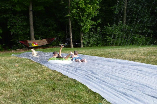 DIY Slip n Slide - Racing