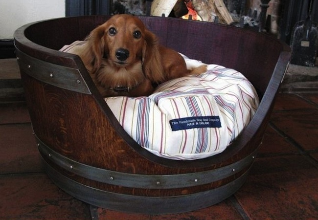 DIY Dog Bed - Barrel