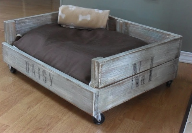 DIY Dog Bed - Crate