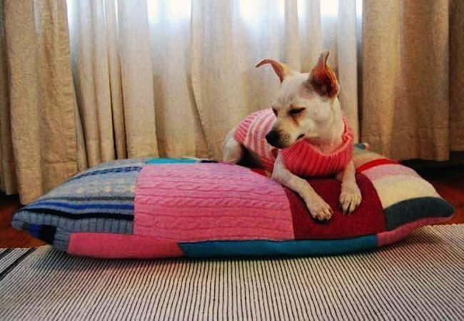 DIY Dog Bed - Patchwork
