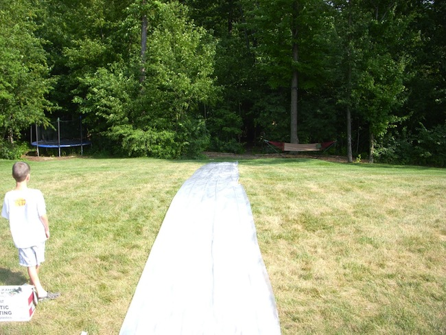 DIY Slip n Slide - Step 1
