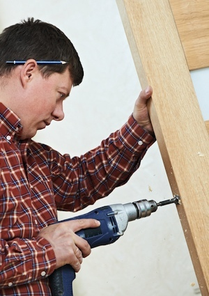 How to Install a Deadbolt - Drilling Door