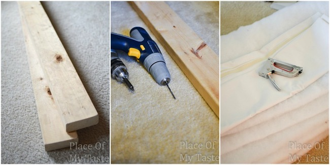 Materials for IKEA hack DIY headboard