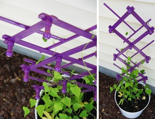 DIY Trellis - Painted