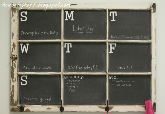DIY Calendar - Chalkboard Window