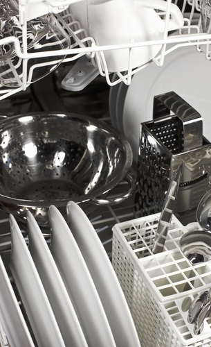 How to Load a Dishwasher - Detail Shot