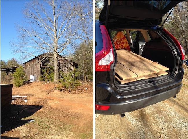 DIY Barn Headboard Picking Up Wood