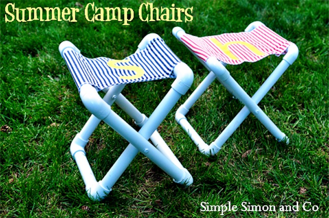 Diy kids chairs with pvc pipe bob vila for Outdoor crafts for camping