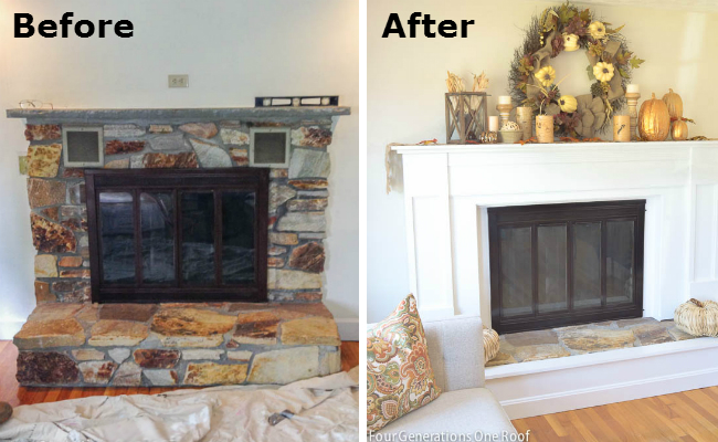 Before and after pictures of fireplace remodel ideas ask for Fireplace makeover ideas before and after