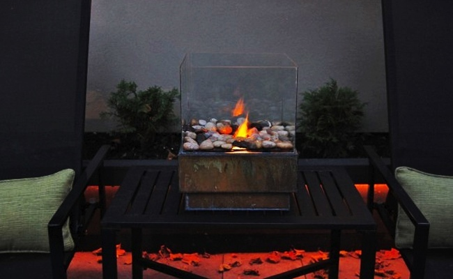 DIY Fire Pit - Glass