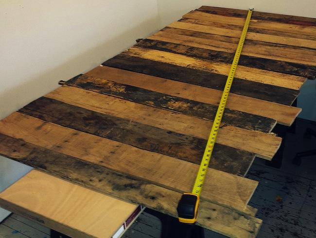 DIY Pallet Desk - Planning
