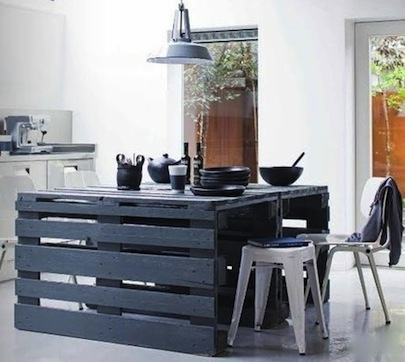 Apartment Therapy Shipping Pallets Kitchen Island