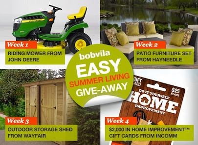 Bob Vila Easy Summer Living Give-Away All Prizes