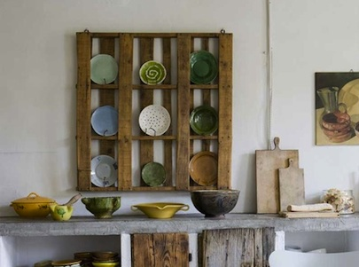 Remodelista Shipping Pallets Dish Display