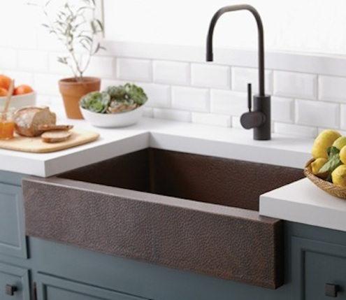 Sink Apron : Native Trails ?Paragon? Sink in Antique Copper, $2,990