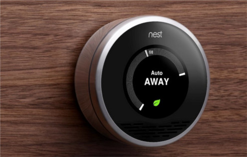 The new Nest, a &quot;smart&quot; touch thermostat.
