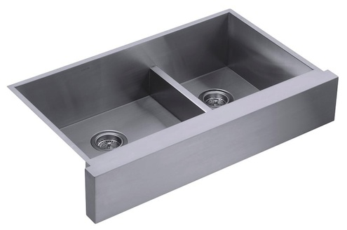 Best Apron Front Sink : Kohlers ?Vault? 36? Stainless Steel Sink, $750