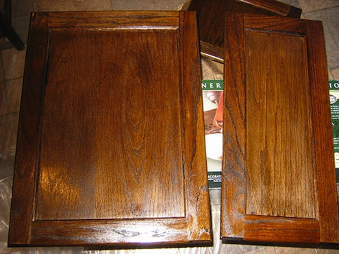 Pdf diy wood stain for cabinets download wood working art - Refinish old kitchen cabinets ...