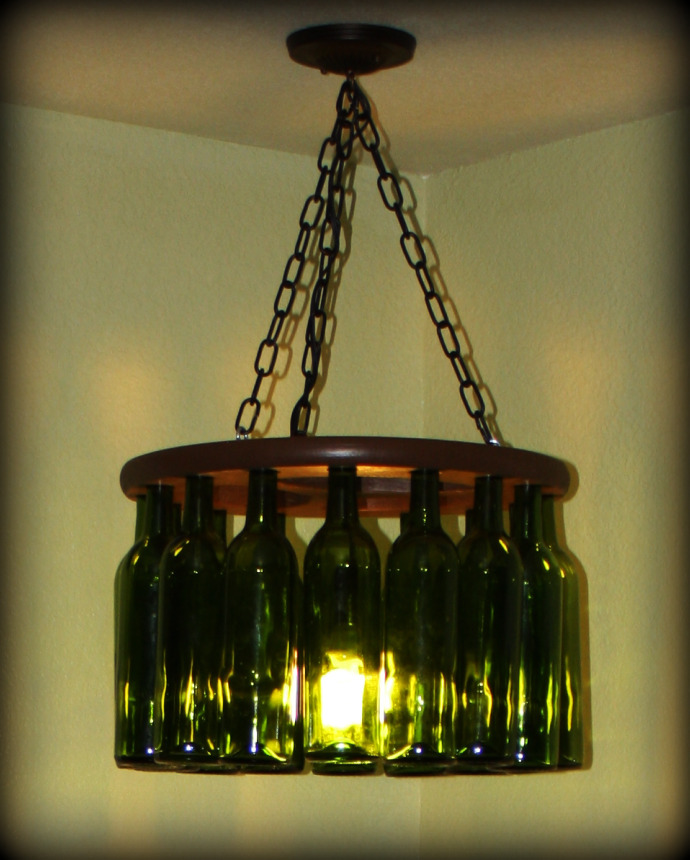 Wine Bottle DIY - Chandelier