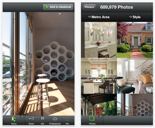 Houzz Interior Design Ideas App Screen Grabs