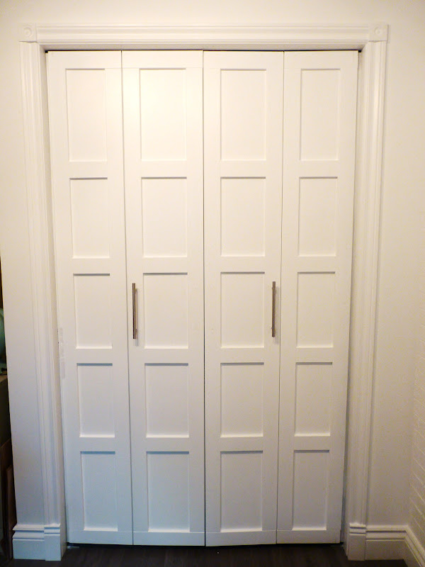 Closet Door DIY - Permanent Trim