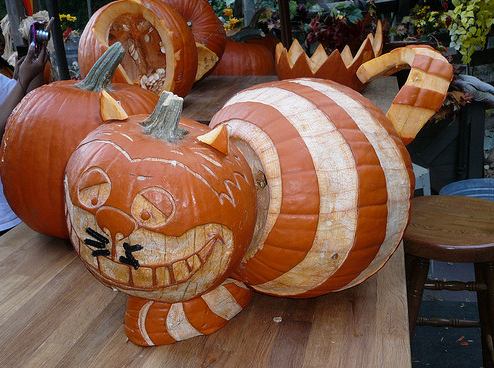 Pumpkin Cheshire Cat