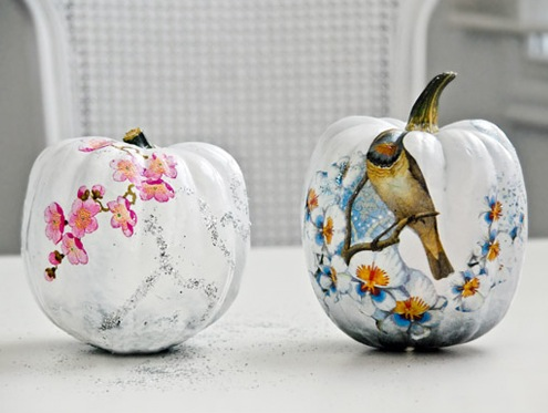 Pumpkin Decoupage