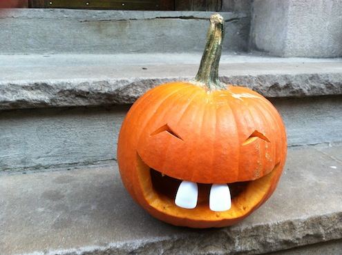 Pumpkin Front Teeth