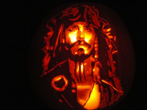 Pumpkin Portraits Jack Sparrow