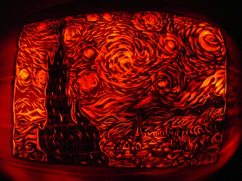 Pumpkin Van Gogh