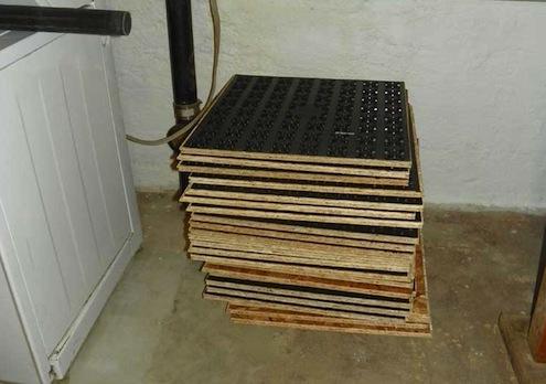 495x348 dricore floor panels acclimatizing prior to installation