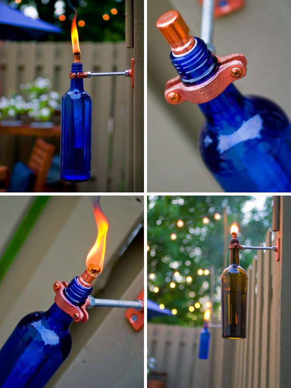 Wine Bottle DIY - Torch
