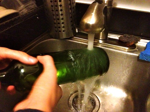 How to Cut Wine Bottles - Cold Water