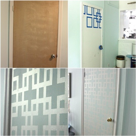 Closet Door DIY - Paint Pattern