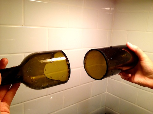 How to cut wine bottles bob vila for Easy way to cut wine bottles