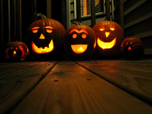 Pumpkin Carving - Jack O' Lanterns at Night