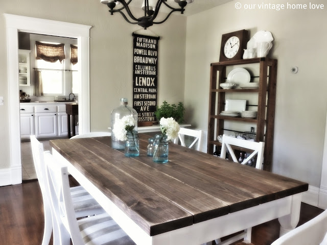 DIY Farm Table Projects - Our Vintage Home Love