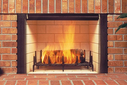 Fireplace Maintenance Tips - Wood burning fireplace